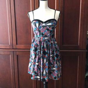 Summer dress w/ spaghetti straps. Colorful
